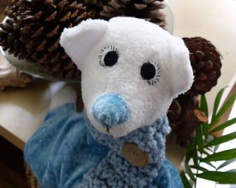 Cuddly rag polar bear.