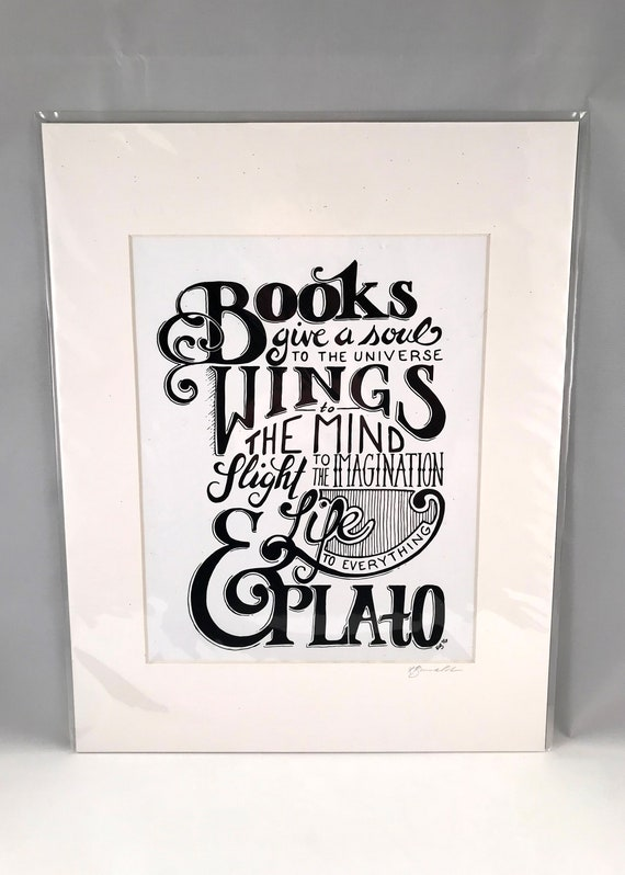 Hand Drawn Plato Print   Hand Written Quote Signs   Typography   Home Decor   Gifts for the Home   Gift for Mom   Gift for Co Worker