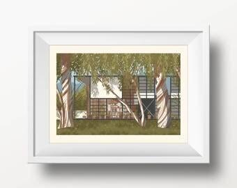 Eames House Print