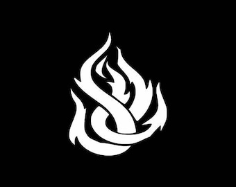 Flame Decal,Laptop Sticker,Bumper Sticker,Yeti Decal,Tumbler,Tablet,Wall,Window,Flame Sticker,Phone Decal