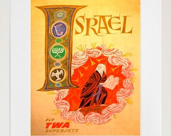 Israel Vintage Art Travel Poster Print Home Wall Decor (XR1371)