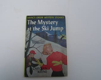 Nancy Drew The Mystery at the Ski Jump 1960s Original Text, Nancy Drew Number 15 Original Text, Nancy Drew vintage book, 1960s Nancy Drew