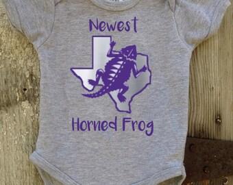 Newest Horned Frog Bodysuit for Baby