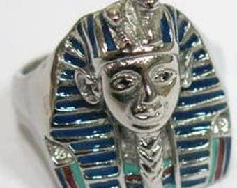 King Tut Ring Blue