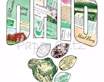 Ohio University Bobcats Rufus OU Mascot Art Print Note Card