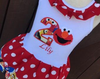 Girls Dress. Elmo. Sesame Street