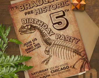 Dinosaur Kids Birthday Invitation, Kids Birthday Card, Digital Birthday Invitations, Digital Birthday Card, Printable Birthday Invite