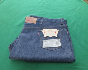 """Vintage Levi's 501 Jeans New Old Stock Store Display Size 60"""" x 30"""""""