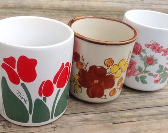 Set of Flower Mugs