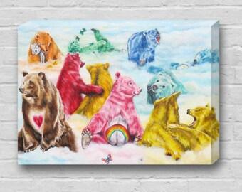 The Care Bears / Carebears Canvas Art Print