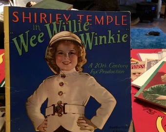 Shirley Temple Wee Willie Winkie Book Authorized Edition 1937