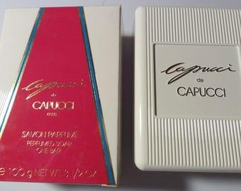 Capucci de Capucci Perfumed Soap 3.5oz new in box with soap case