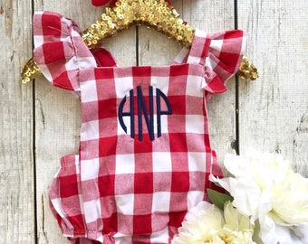 Monogrammed Floral bubble, little girls, cute, romper, bubble, floral, baby girls,
