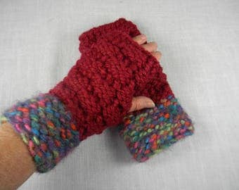 Wrist Warmers, Hand Knit Wrist Warmers, Hand Knit Fingerless Gloves, Hand Knit Fingerless Mittens, Texting Gloves, Texting Mittens