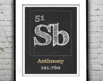 Texas print periodic table of elements state poster periodic table antimony poster art print periodic table of elements sb 51 urtaz Gallery