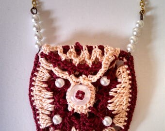 Pouch necklaces, bag necklaces, charm bags