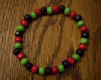 Small Bead RBG Wood Bracelet
