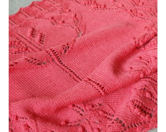 "Triangular lace shawl knitting pattern with cable edges ""Shawl Shawl"""