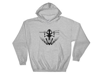 Navy SEAL Bonefrog Hooded Sweatshirt Black Print