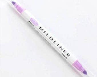 Twin tip Mildliner highlighter pen in Purple