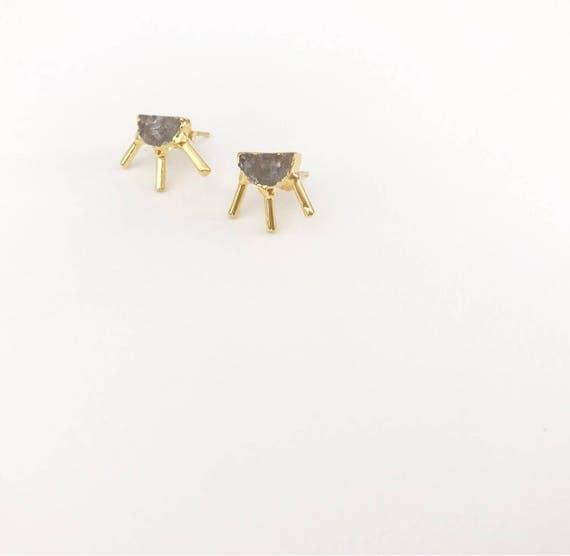 Druzy Sunburst Stud Earrings