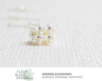 beaded necklace | bridal necklace | vintage necklace | necklace wedding | pearl necklace | delicate necklace | necklace silver