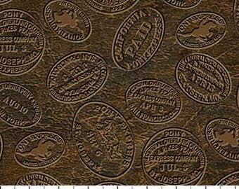 The Pony Express Fabric by Deborah Edwards for Northcott 21836 36 brown