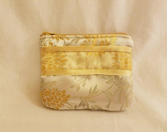 Handmade Coin Purse, Special Occasion, Small Zipper Wallet, Change Purse, Wedding