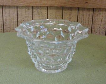 Fostoria Glass American Bowl Mayonnaise or Condiment Bowls Vintage Dinnerware