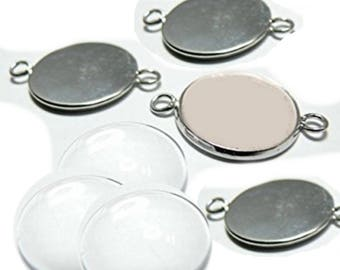 Set of 3 dividers with 10 2 mm cabochon attached