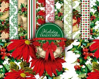 Holiday Traditions - Digital Paper Pack