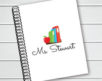 Personalized Notebook, Teacher Spiral Notebook, Writing Journal (NB-006-PC)