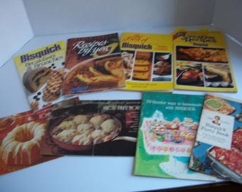 Betty Crocker's Bisquick Recipe Booklets - Bisquick Recipe Booklets - Eight Vintage Bisquick Recipe Booklets