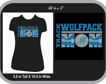 Track Mom Glitter and Rhinestone T-Shirt, Track Mom T-Shirt, Track and Field, Track Mom Gift