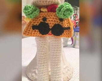 Crochet Taco, Taco, Plush Taco, Handmade Taco, Crochet, Handmade, Plush Toy, Veggie Taco, Mr. Taco, Children's Plush Taco