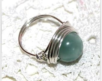 Natural Amazonite ring size choice