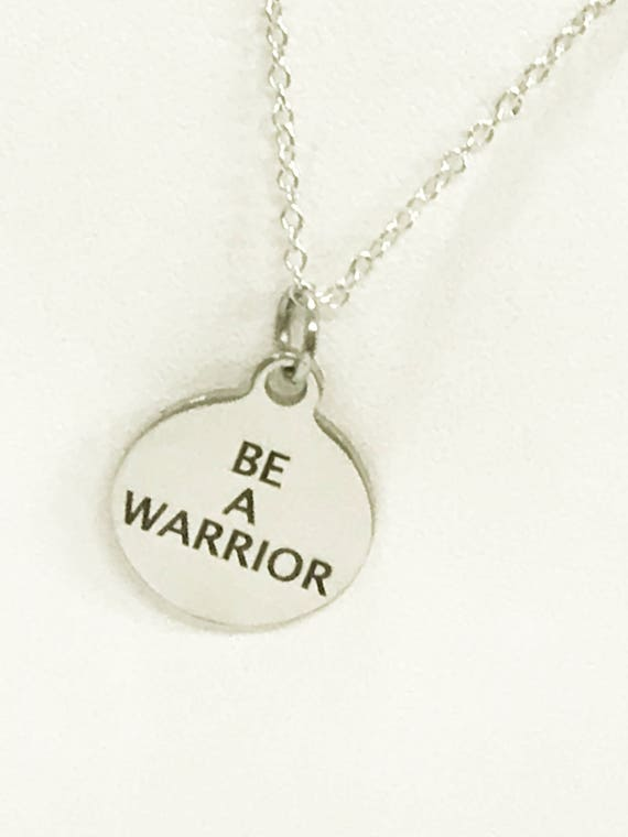 Be A Warrior Necklace, Encouragement Gift, Motivation Gift, Overcoming Struggles, Your Word Jewelry Gifts, Success Gifts, Success Moto Words