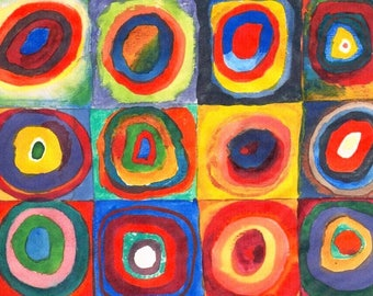 """Laminated placemat Kandinsky """"concentric squares"""""""
