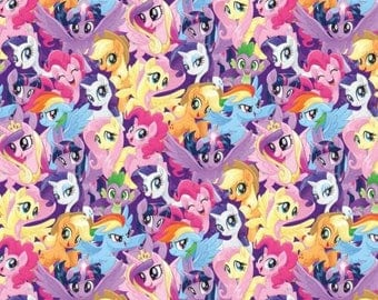 My Little Pony Packed cotton woven fabric