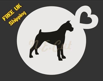 GREAT DANE - Dog Stencil - Coffee Cup-Cup Cake-Face Paint stencil Free shipping DOGC043
