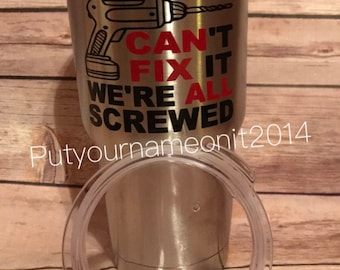 "Stainless Steel Tumbler 30 ounce Maars tumbler ""If Papaw can't fix it we're all screwed"" Grandpa, Papa, Grand Dad. Gift for Father's Day"