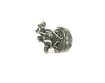 Unique Paul Revere ring, Horse rider ring, spoon ring, horse ring, american ring
