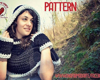 Crochet Pattern Cappuccione con Guanti abbinati