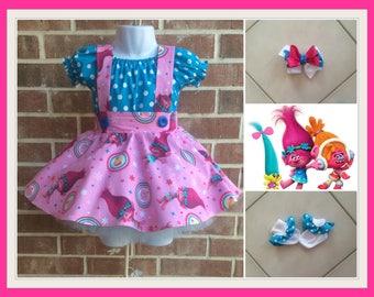 Troll Birthday, Troll Dress, Poppy Dress, Troll outfit