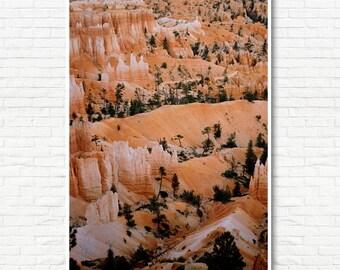 Bryce Canyon Print -Big Wall Art, Oversized Art, Desert Wall Art, Boho Art, Minimalist Art, Modern Wall Art, Nature Photography