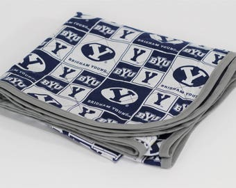 Swaddle Blanket made with BYU Fabric