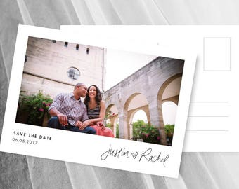 Save the Date Postcards Template Photo Save the Date Template Postcard Cards