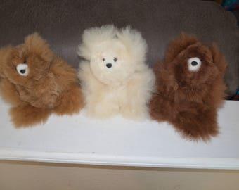 Alpaca Pocket Teddy Bears