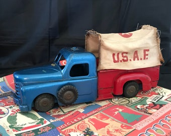 Vintage Structo Air Force Metal Toy Truck, 1940's