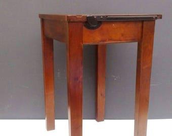 Vintage Wooden School Desk, Lift Up Lid, Child's Desk